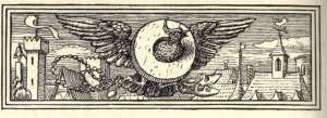Almond tree: bird with a millstone