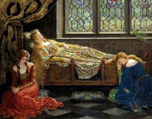 the-sleeping-beaty-painting-by-john-collier-1921