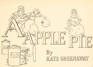 A apple pie coloring page