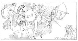 greek gods in action