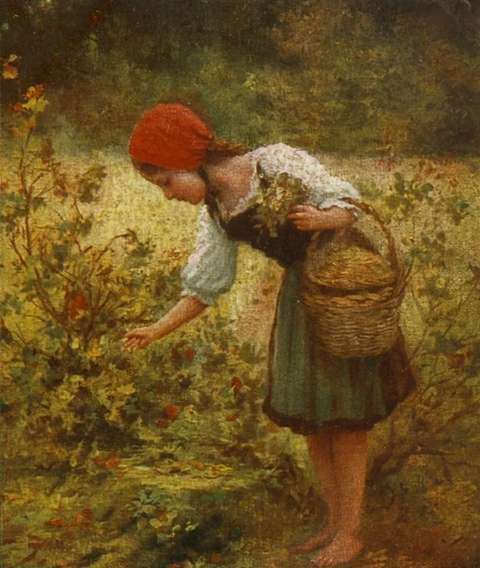 red-cap-picking-flowers-hermann-seeger