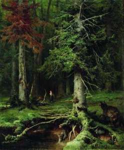 julius sergius klever red riding hood with wolf