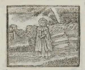 red riding hood engraving from 18th century