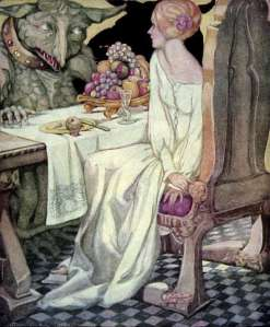 anne anderson's illustration of the beauty and the beast