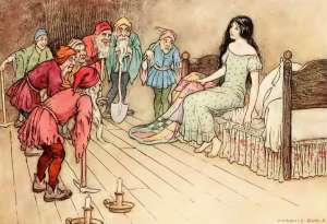 snow white illustration by warwick goble