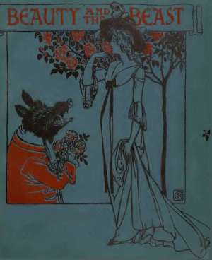 cover of the beauty and the beast by walter crane