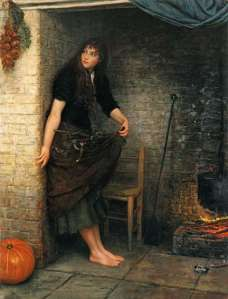 cinderella oil painting by val prinsep