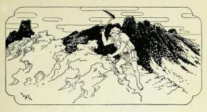 black and white illustration by frederick richardson the stone-cutter