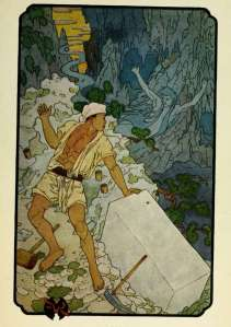 full page color illustration by frederick richardson the stone-cutter