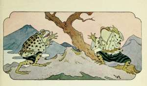 illustration of two frogs by frederick richardson