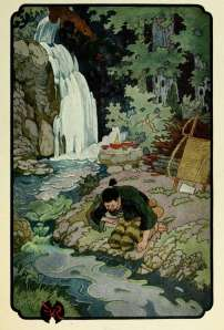 full page color illustration of the wonderful waterfall