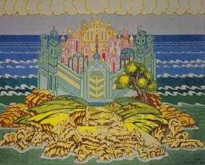 opera scene from tsar saltan 1900