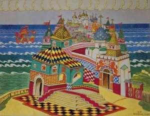 tale of tsar saltan scene by ivan yakovlevich bilibin