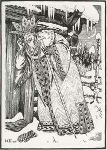tsar saltan is listening at the door