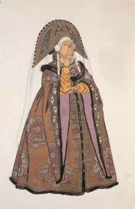 jealous sister from tale of tsar saltan costume  by ivan bilibin
