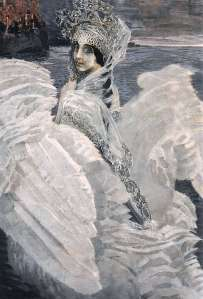 portrait of princess swan by mikhail vrubel