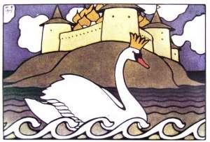 princess swan by ivan bilibin