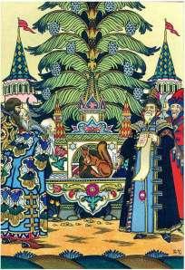 boris zvorykin illustration of tale of tsar saltan