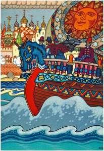 boris zvorykin illustration from the tale of tsar saltan
