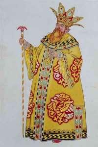 tsar saltan costume by ivan bilbibin