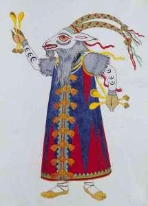 opera costume by ivan bilibin tale of tsar saltan