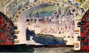 opera scene by mikhail vrubel tsar saltan