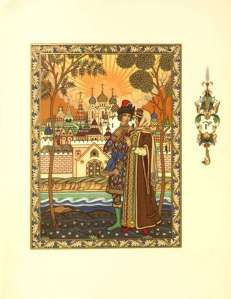 boris zvorykin tsar saltan illustration