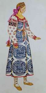 queen marfa costume by ivan bilibin