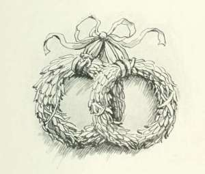 black-and-white-drawing-of-wreaths