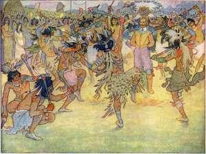 indians-celebrate-capture-of-john-smith