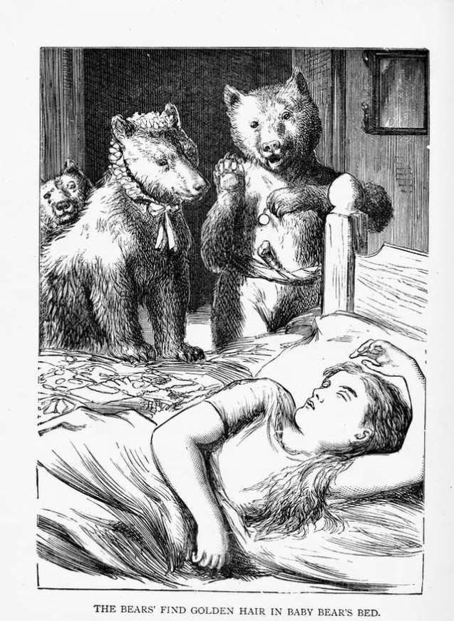 alfred-w-cooper-illustration-of-goldilocks-and-three-bears