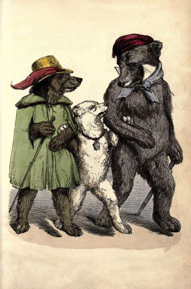 three-bears-walking-harrison-weir
