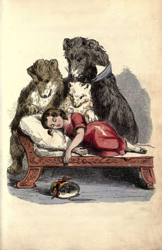 three-bears-and-silver-hair-in-bed-weir-harrison